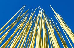 Yellow Steel Rods. With a blus sky background Stock Image