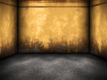 Yellow steel room Royalty Free Stock Images