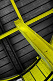 Yellow steel support Stock Images