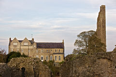 Yellow Steeple. In Trim, near the castle royalty free stock photo