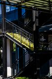 Yellow steps Stock Image