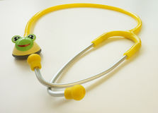 Yellow stethoscope Royalty Free Stock Images