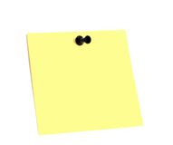 Yellow stick with a button Royalty Free Stock Photos