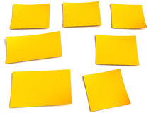 Yellow stick note Stock Images