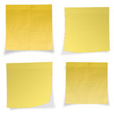 Yellow stick note isolated on white background Royalty Free Stock Photo