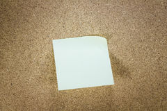 Yellow stick note paper Royalty Free Stock Image