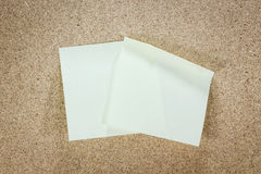 Yellow stick note paper Royalty Free Stock Photos