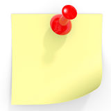Yellow stick note. Stock Images
