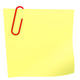Yellow stick note. Stock Photography