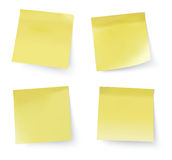 Stick notes. Yellow stick notes, vector illustration Stock Photo