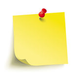 Yellow Stick Red Pin. Infographic with yellow stick and red pin on the white background vector illustration