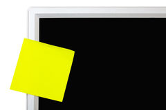 Yellow sticker Stock Image