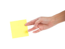 Yellow sticker Royalty Free Stock Image