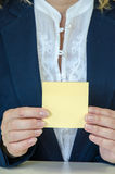 Yellow sticker Royalty Free Stock Photo
