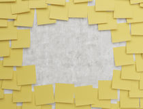 Yellow sticker Stock Photography