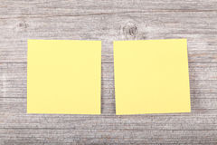 Yellow sticker for notes Stock Image