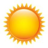 yellow sticker sun icon Royalty Free Stock Photos