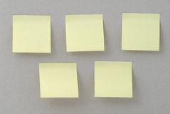Yellow stickers Royalty Free Stock Photography