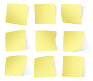 Yellow stickers  on white background vecto Stock Photography