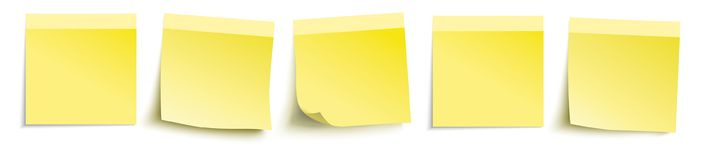 5 Yellow Sticks Header Royalty Free Stock Images