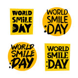 Yellow stickers. World Smile Day Stock Photography