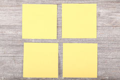 Yellow stickies Stock Photos