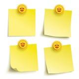 Yellow Sticks 4 Smiling Suns Stock Photo