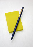 Yellow sticky Royalty Free Stock Photography