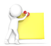 Yellow Sticky Note. Royalty Free Stock Photos