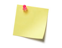 Yellow Sticky Note. Post it isolated on white background Royalty Free Stock Photos