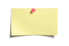 Yellow Sticky Note. Post it isolated on white background Royalty Free Stock Images