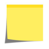 Yellow sticky note. Isolated on white background vector illustration