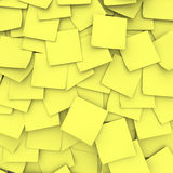 Yellow Sticky Note Background Stock Photography