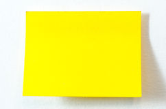 Yellow Sticky Note. On isolated Royalty Free Stock Photo