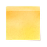 Yellow sticky note isolated on white Stock Photos