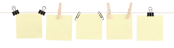 Yellow Sticky Note Mashup stock image