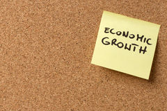 Yellow sticky note/post  Economic growth Royalty Free Stock Images
