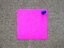 A pink sticky note post it writing, Stock Photos