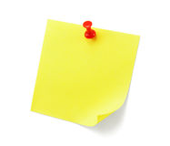 Yellow sticky note with shade Stock Photo