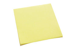 Yellow sticky note Royalty Free Stock Photography