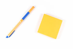 Yellow sticky note Stock Images