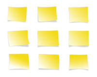 Yellow sticky notes royalty free stock image