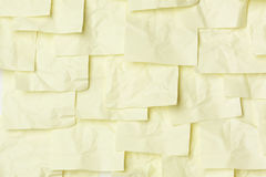 Yellow sticky notes Stock Photography