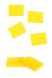Yellow sticky notes Stock Photos