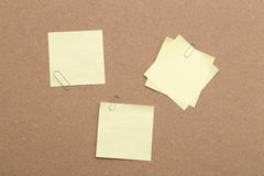 Yellow Sticky Notes and paper clips Royalty Free Stock Image