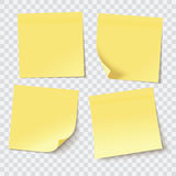 Yellow sticky notes Royalty Free Stock Photo