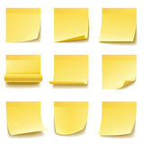 Yellow sticky notes Stock Image