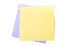Yellow Sticky Post Royalty Free Stock Photo