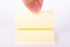 Yellow Sticky Post Block Stock Photos