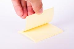 Yellow Sticky Post Block Stock Photo